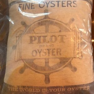 Feedsack Pillow - Oysters